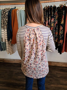 Floral Backed Top