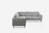Grey Fabric Walnut Corner Sectional