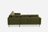 Olive Velvet Gold Corner Sectional
