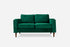 Green Velvet Walnut Albany Park Loveseat