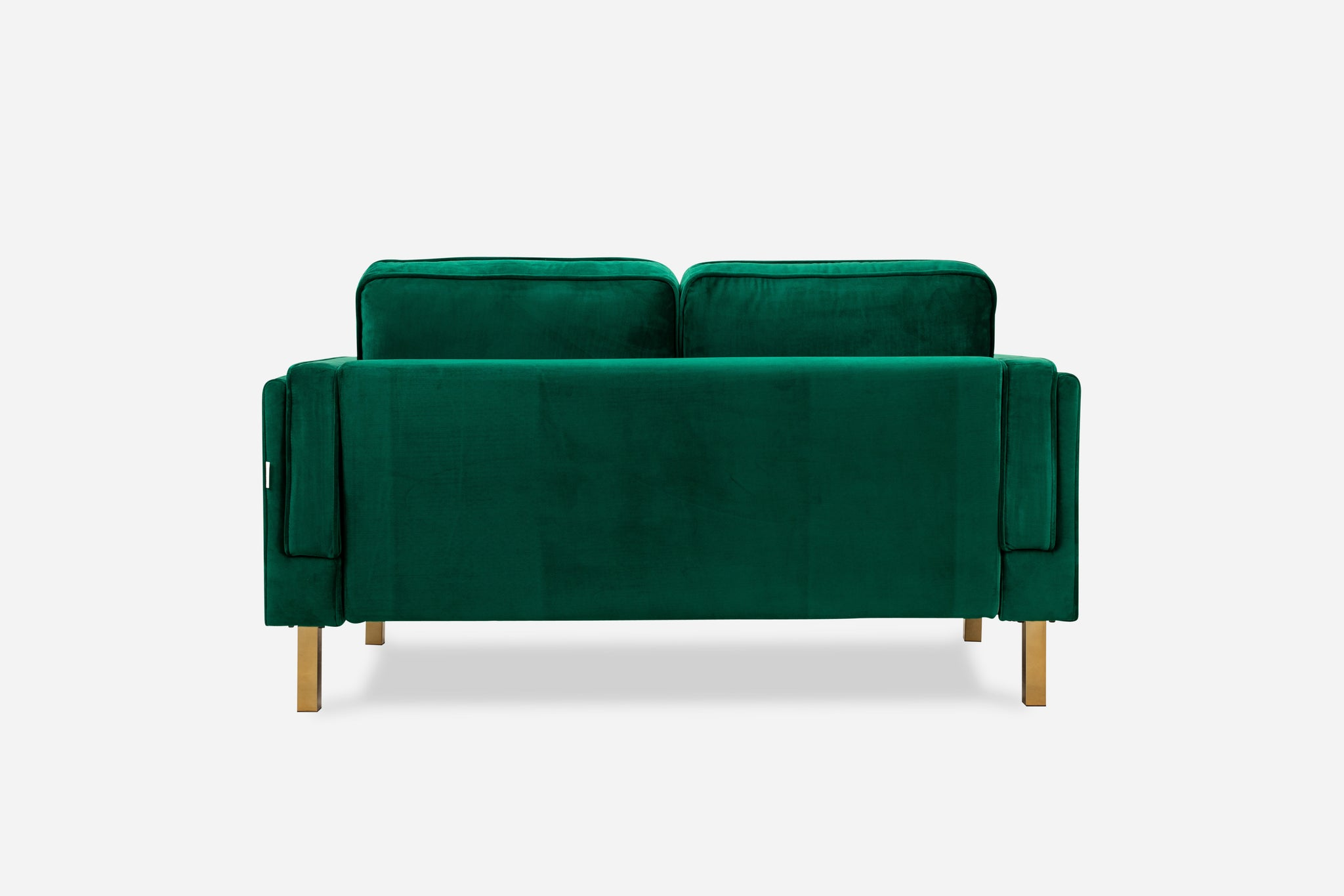 green velvet loveseat gold legs