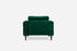 edloe finch green velvet armchair walnut modern