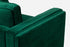 burrow sofa green velvet walnut