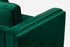 green velvet apartment sofa gold legs