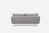 grey fabric modern sofa gold legs