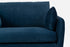 modern accent chair blue velvet black legs