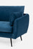 blue velvet couch black legs