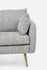 grey fabric modern couch gold legs