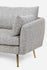 grey fabric couch gold legs
