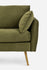 Olive Velvet Gold Legs Left Facing Sectional Sofa