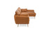 Distressed Vegan Leather Gold Legs Right Facing Sectional Sofa