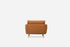 Distressed Vegan Leather Gold Legs Armchair