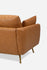 Distressed Vegan Leather Gold Legs Sofa