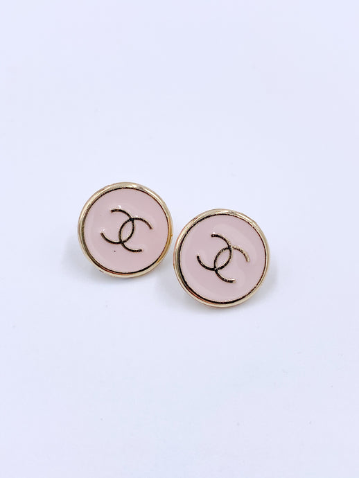 Chanel Sleek Light Pink Medium Studs