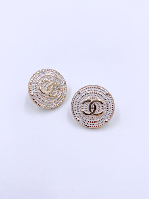 Chanel Shield Studs