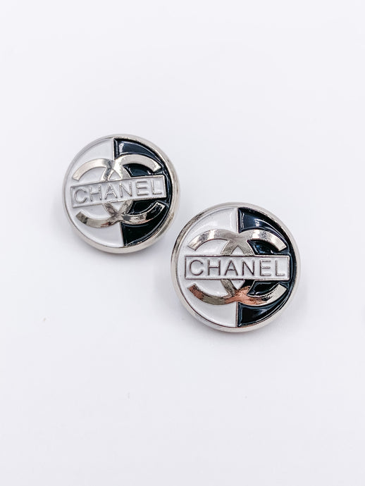 Chanel Night and Day Studs Large