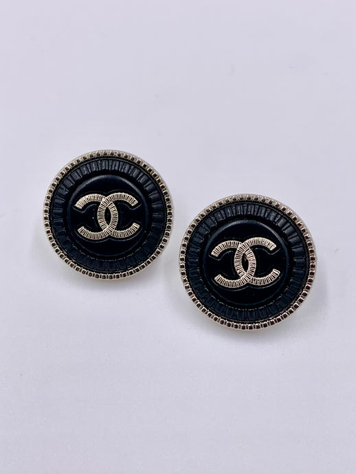 Chanel Black Beauty Studs