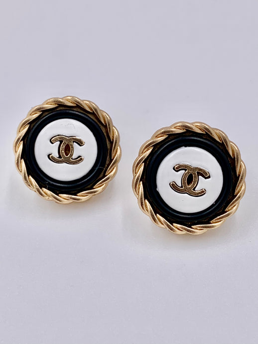 Chanel Gold Rope Studs
