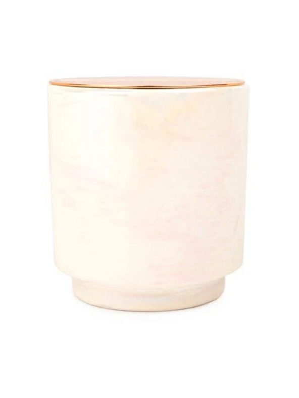 Ivory Iridescent Candle
