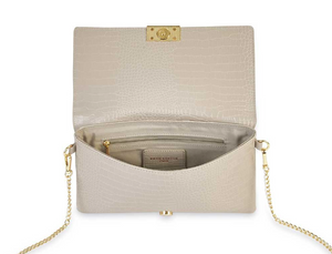 Celine Faux Croc Crossbody Purse