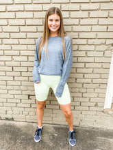 Load image into Gallery viewer, Ribbed Biker Shorts Neon Yellow