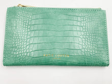 Load image into Gallery viewer, Celine Faux Croc Wallet Mint Green