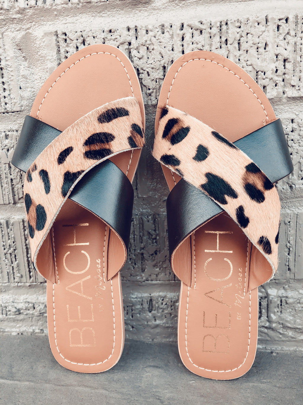 Pebble Leopard Brown Sandal