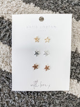 Load image into Gallery viewer, Florence Outline Star Earring Set