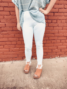 Bailey White Skinny Jeans
