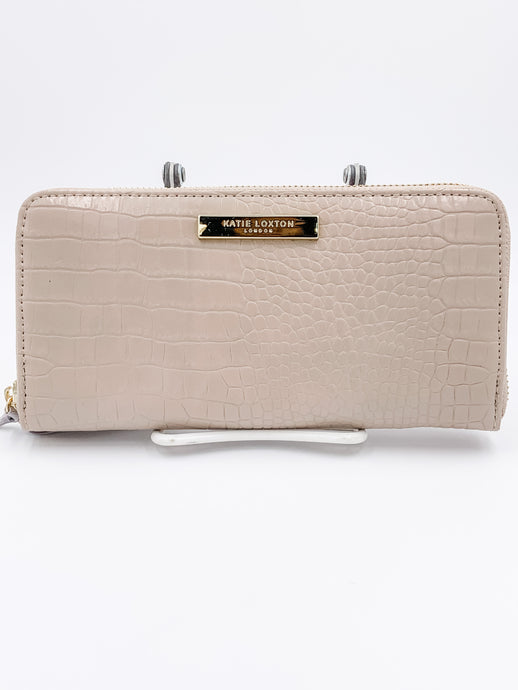 Celine Large Croc Purse Oyster
