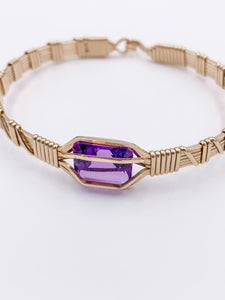 My Favorite Gem Purple Amethyst Bracelet