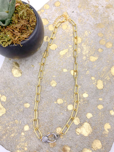 Gold and Gunmetal Necklace