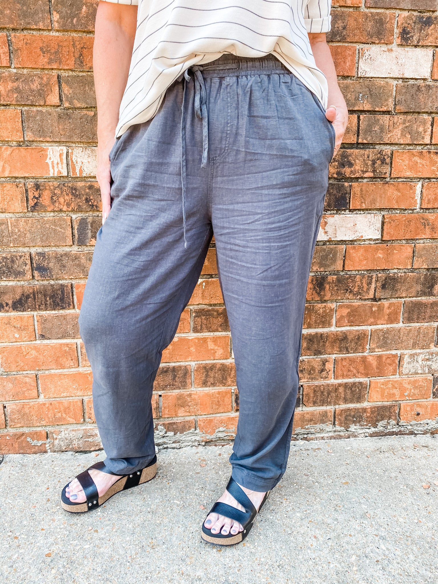 Brooklyn Charcoal Pants