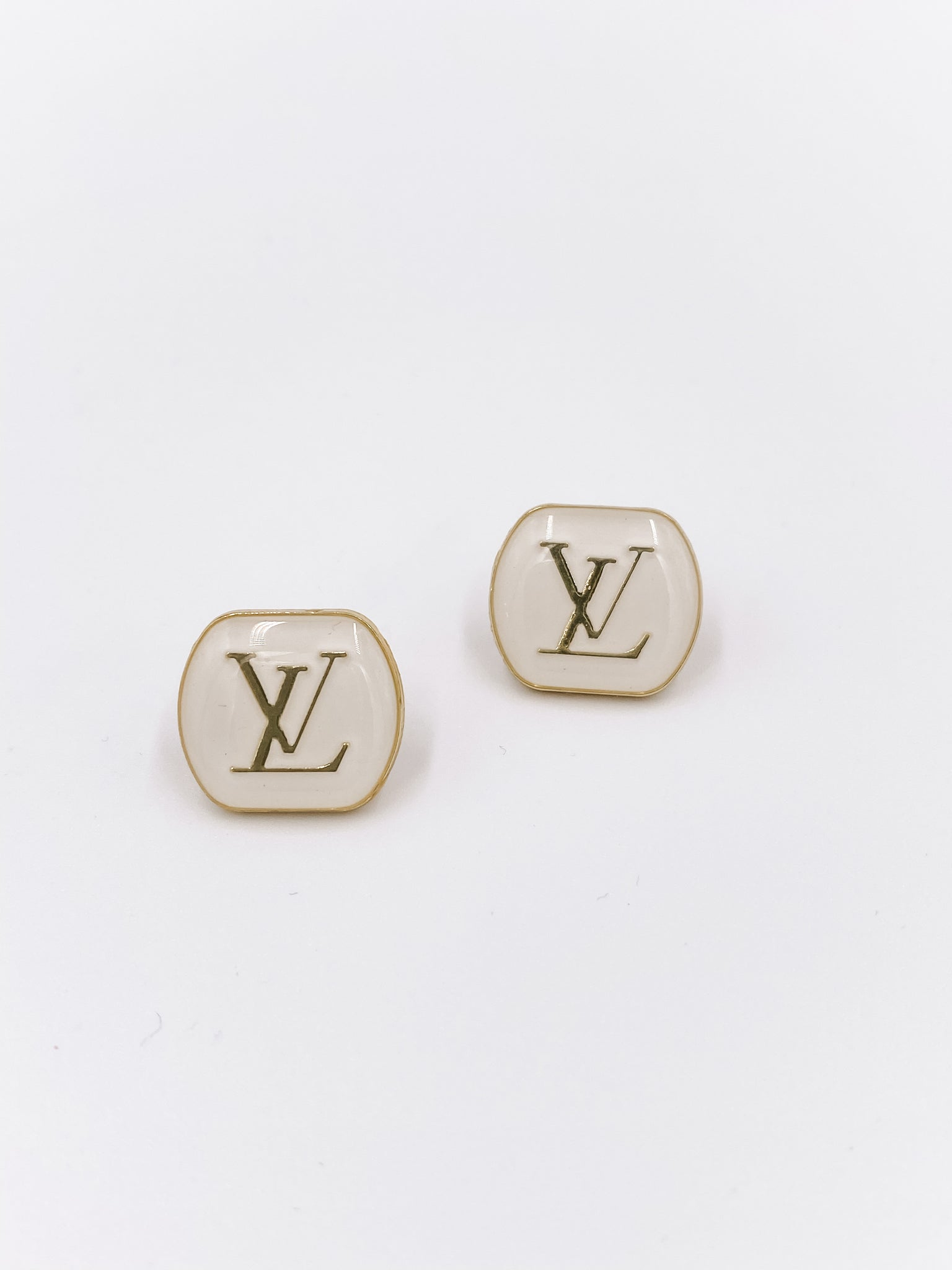 Louis Vuitton White Earrings