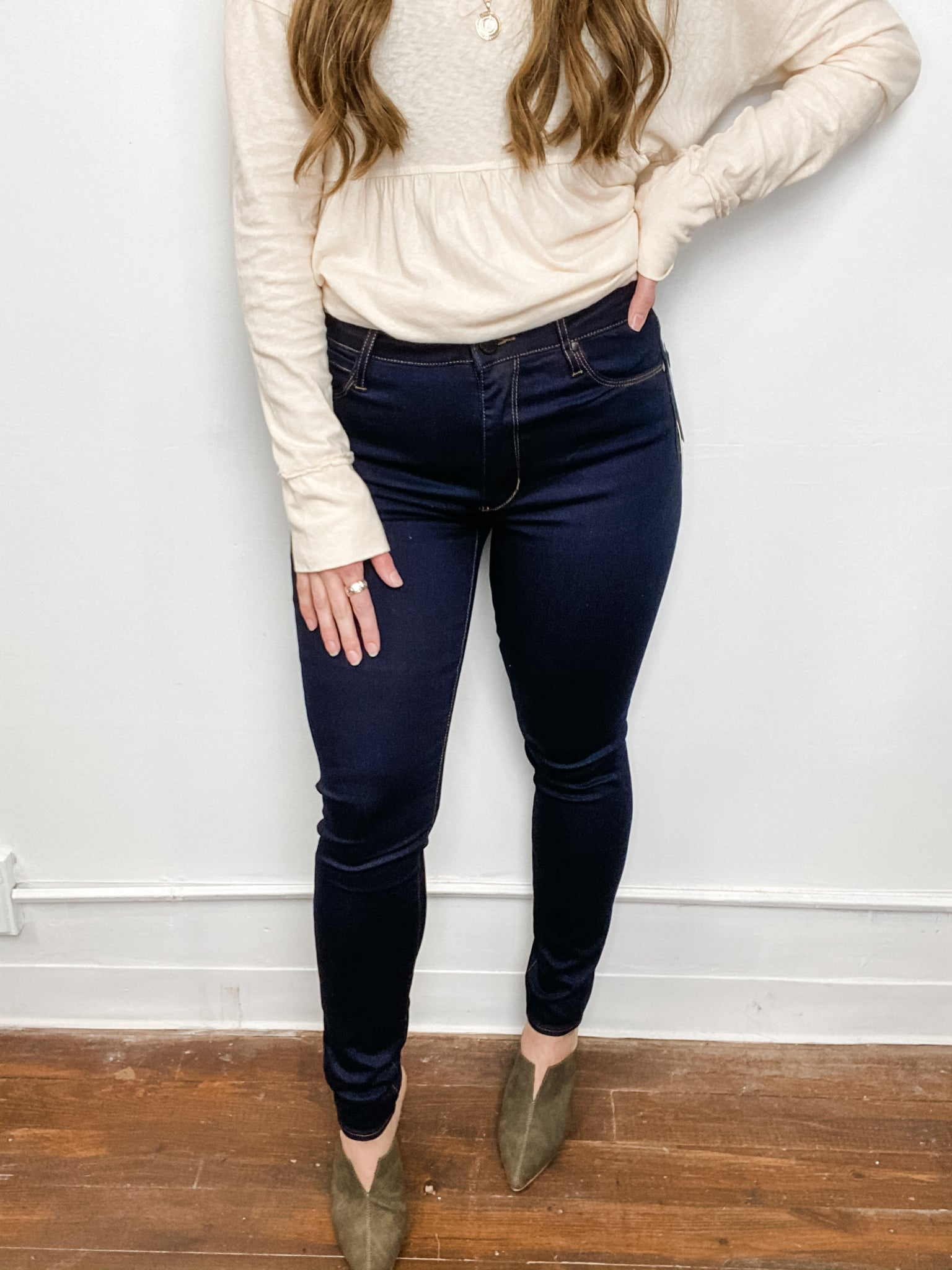 Hilary Pure Blue Skinny Jeans