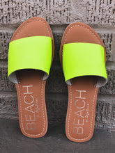 Load image into Gallery viewer, Cabana Yellow Neon Sandal