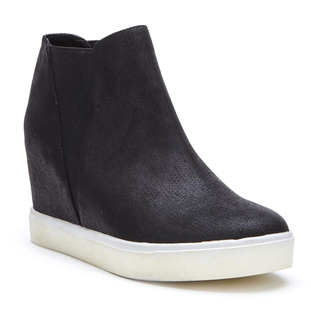 Lure Black Wedge Sneaker