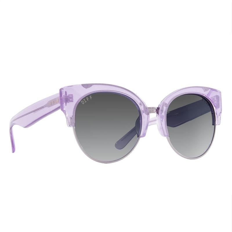 Stella Amethyst Glitter Light Gunmetal + Smoke Gradient Polarized Lens