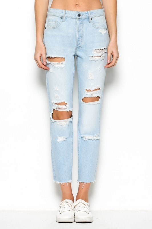 Walk on the Wild Side Destroyed Skinnies