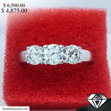 Load image into Gallery viewer, Diamond Trinity Ring (sd65k)