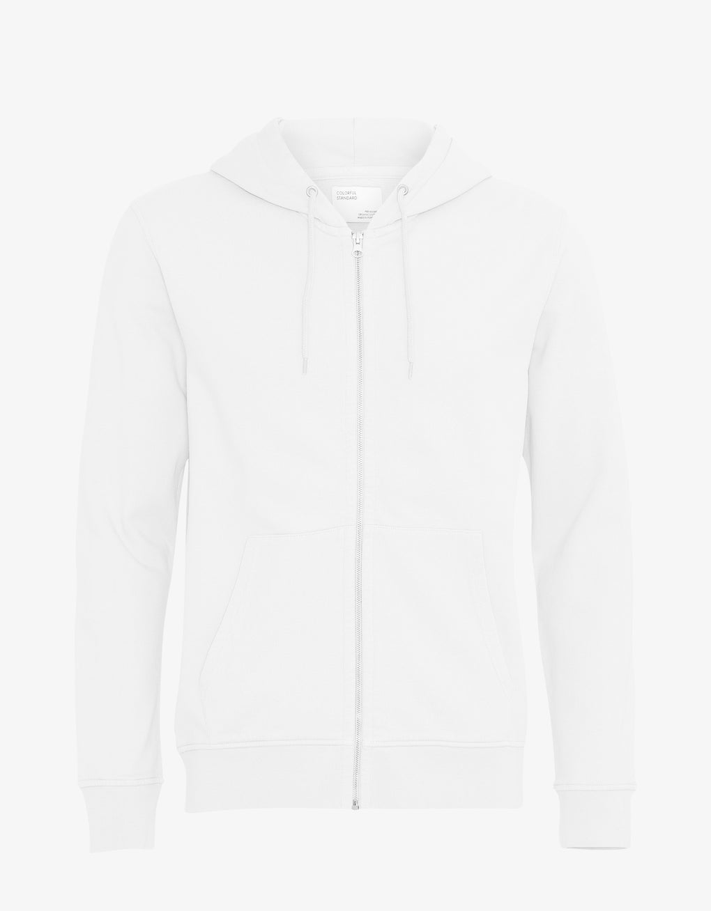 Colorful Standard Classic Organic Zip Hood Zip Hoodie Optical White