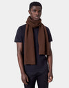 Colorful Standard Merino Wool Scarf Scarf Coffee Brown