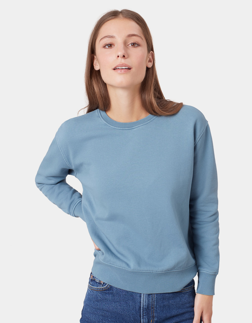 Colorful Standard Women Classic Organic Crew Women Crewneck Heather Grey