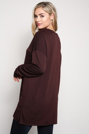 Long Sleeve Crew Neck with Front Pocket