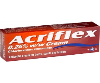 Acriflex Cream For treatment against minor burns,