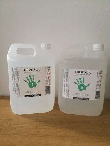 AIRMEDICA- HAND SANITISER 5 LITRE DRUM PPE
