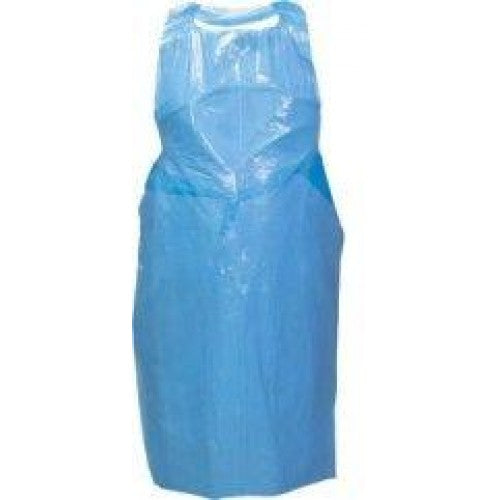 APRON BLUE FRONT ONLY TIE BACK