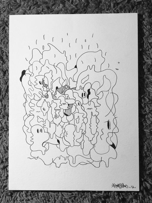 REEPS ONE ORIGINAL INK DRAWING - ADO SERIES #4