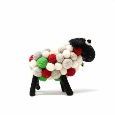 Christmas Sheep, Small 10cm - Global Groove (H) - origintraders
