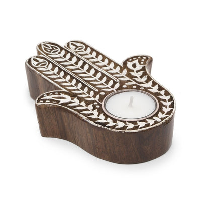 Aashiyana Tea Light Holder - Hamsa - Matr Boomie (Candle) - origintraders